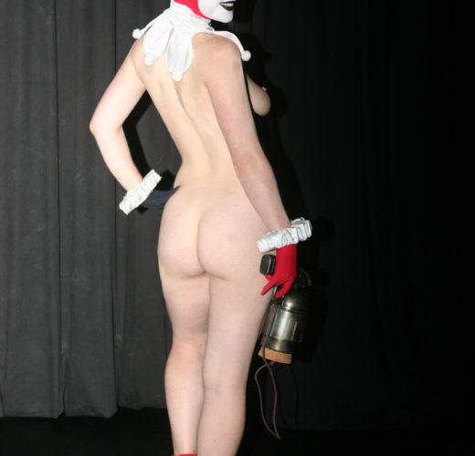 Elise Archer as a Naked Harley Quinn