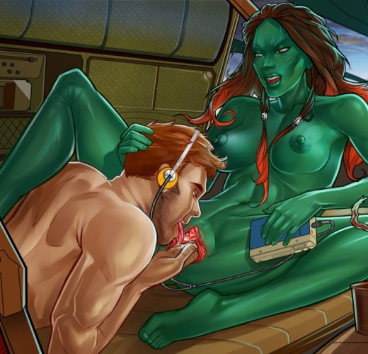 More Guardians of the Galaxy Porn with Gamora and Star-Lord