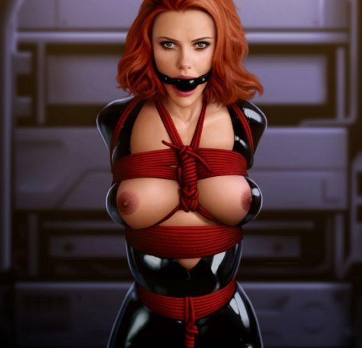 Black Widow in Bondage
