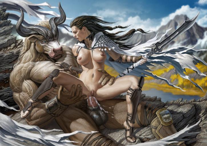 1568683 - Fantasy Minotaur human