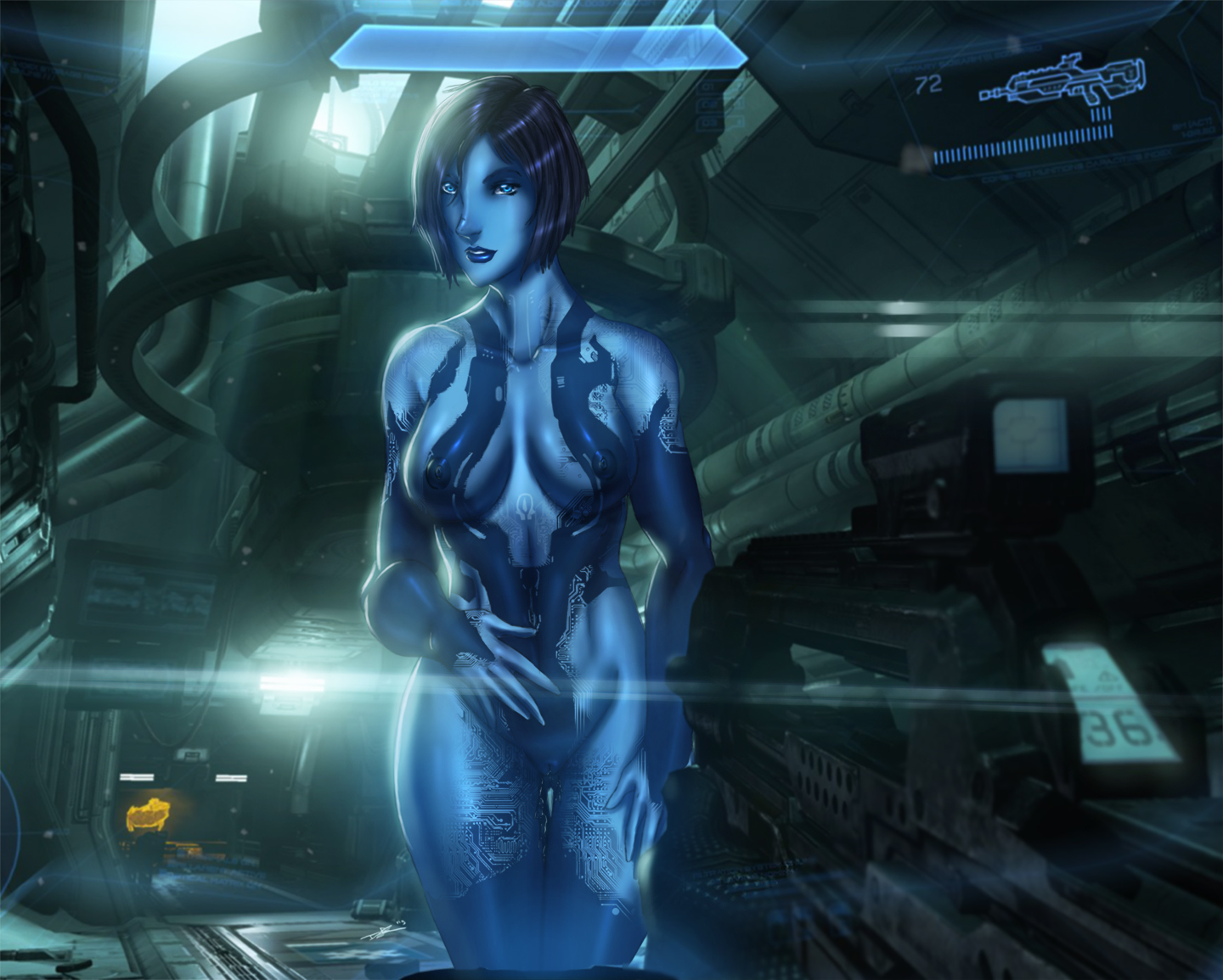 Halo cortana masterbating porn nude photo