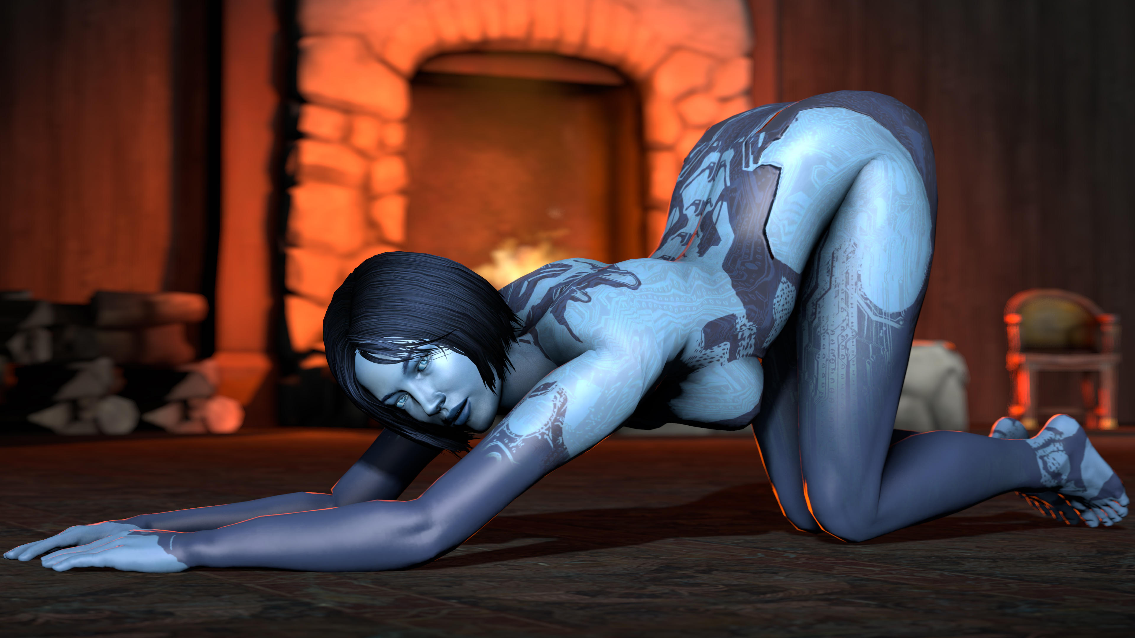 Cortana porno nude video