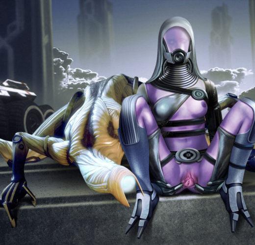 Tali'Zorah nar Rayya from Mass Effect Rule 34