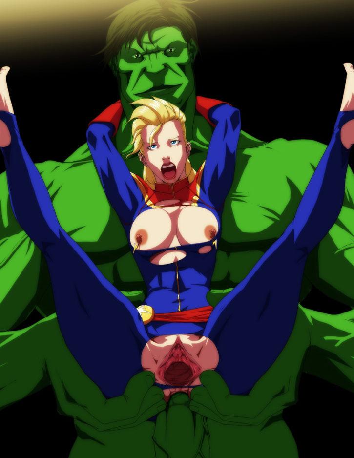 1472504 - Avengers Captain_Marvel Carol_Danvers Hulk Marvel RaliugaXXX
