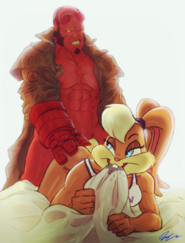 1494009 - Hellboy Hellboy_(series) Lola_Bunny Looney_Tunes Space_Jam crossover pumpkinsinclair