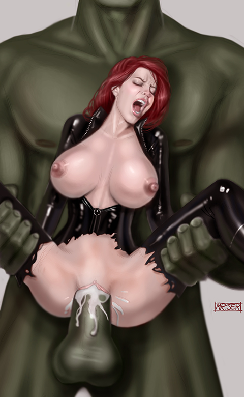 1495369 - Avengers Black_Widow Hulk Marvel misterjer