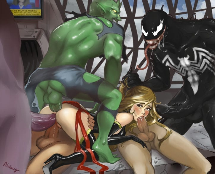 1567057 - Alvlaug Carol_Danvers Green_Goblin Marvel Ms._Marvel Spider-Man_(series) Venom