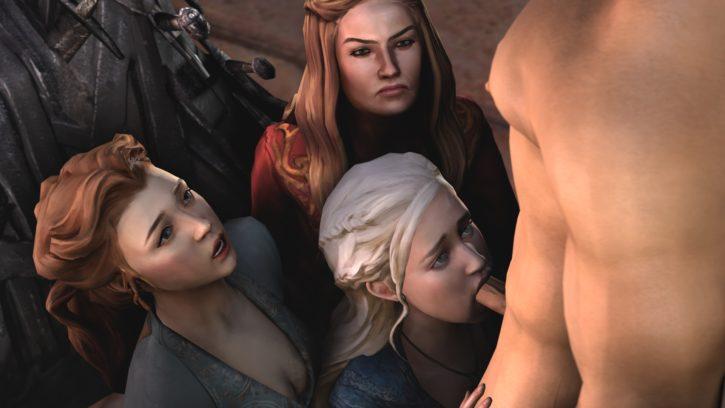 1574104 - Cersei_Lannister Daenerys_Targaryen Game_of_Thrones Margaery_Tyrell shittyhorsey
