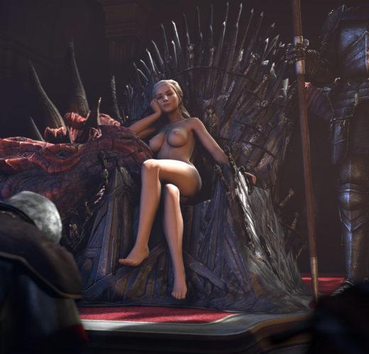 Daenerys on the Iron Throne (Game of Thrones)
