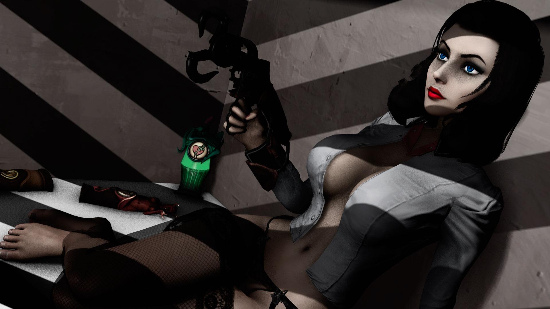 Bioshock Infinite Porn - Noir Style Elizabeth from Bioshock Infinite. by Nerd Porn ...