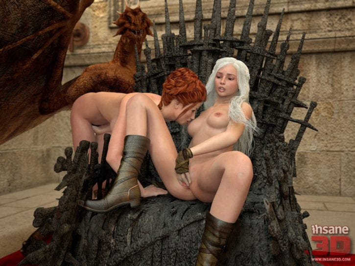 1580098 - A_Song_of_Ice_and_Fire Cersei_Lannister Daenerys_Targaryen Game_of_Thrones Insane3D (1)
