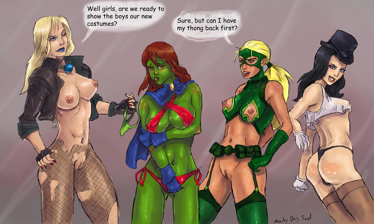 Young justice miss martian and artemis comic