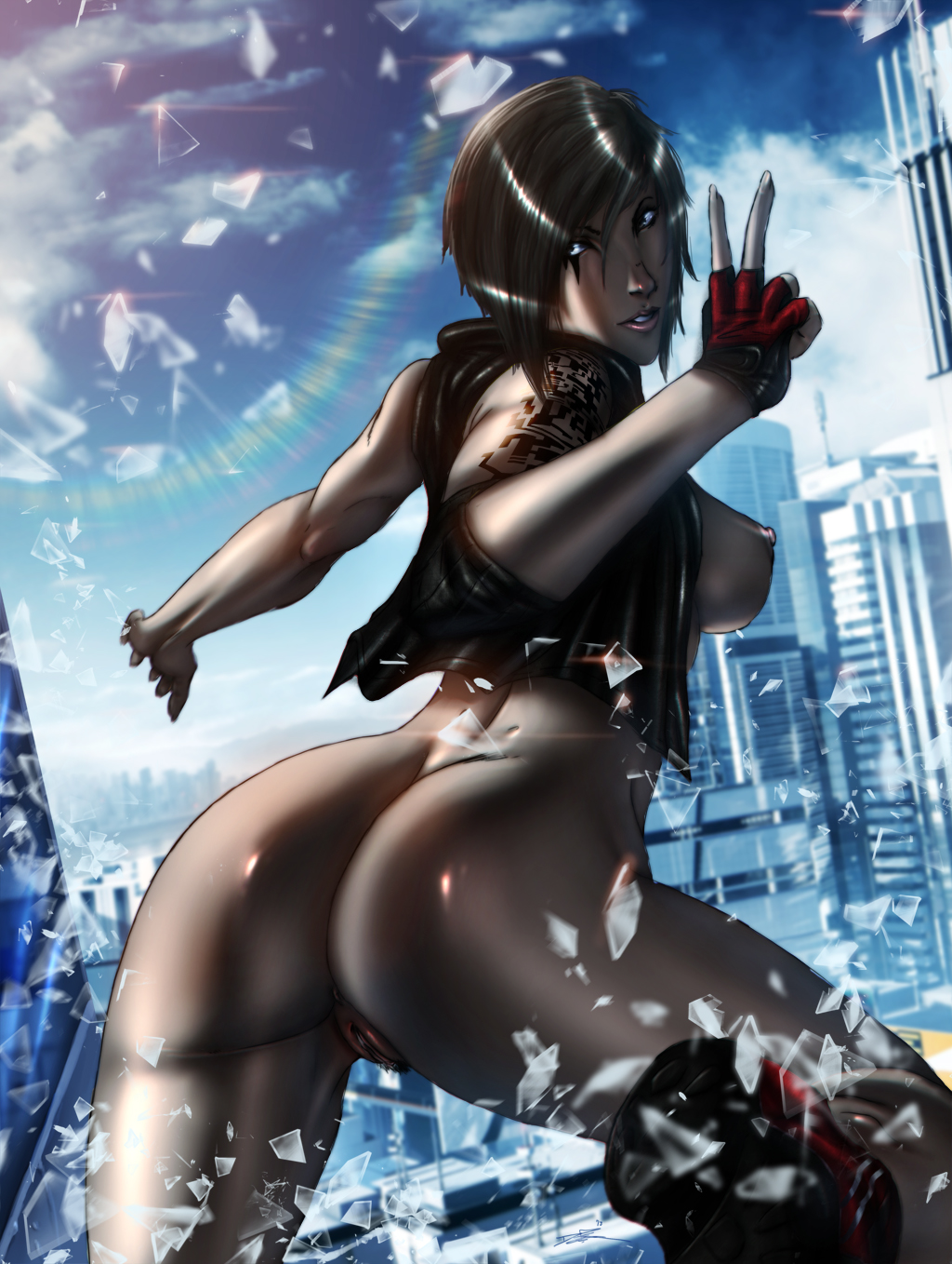 Mirrors edge hentai fucked download