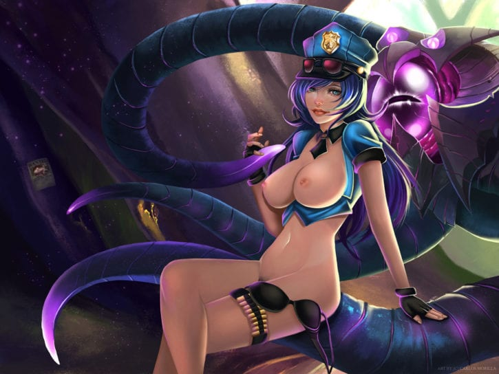 1490390 - Caitlyn League_of_Legends cmorilla vel'koz