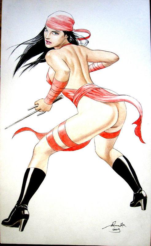 719444 - Daredevil Elektra Marvel mhel_almeda