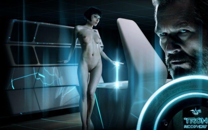 1325975 - Jeff_Bridges Kevin_Flynn Olivia_Wilde Quorra Tron fakes