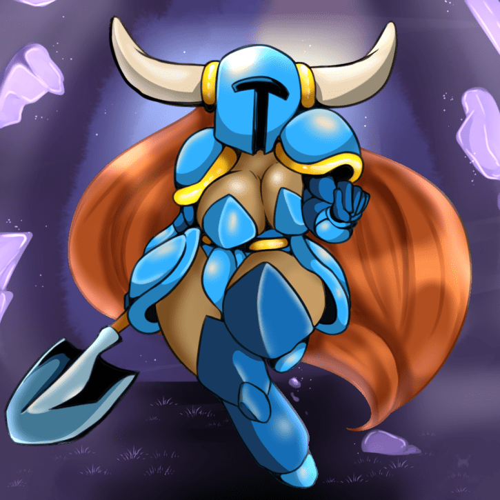 1530701 - Arnachy_Bunny Geeflakes Rule_63 Shovel_Knight Shovel_Knight_(character)