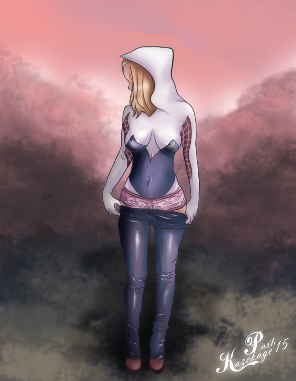1572876 - Edge_of_Spider_Verse Gwen_Stacy Marvel Pastkazekage Spider-Man_(series) spider-gwen