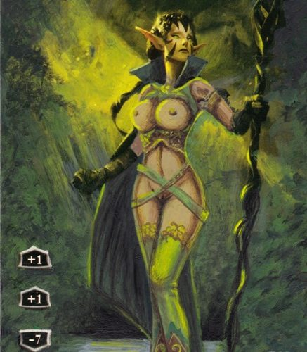 Custom Sexy Nissa Revane Magic: The Gathering Card