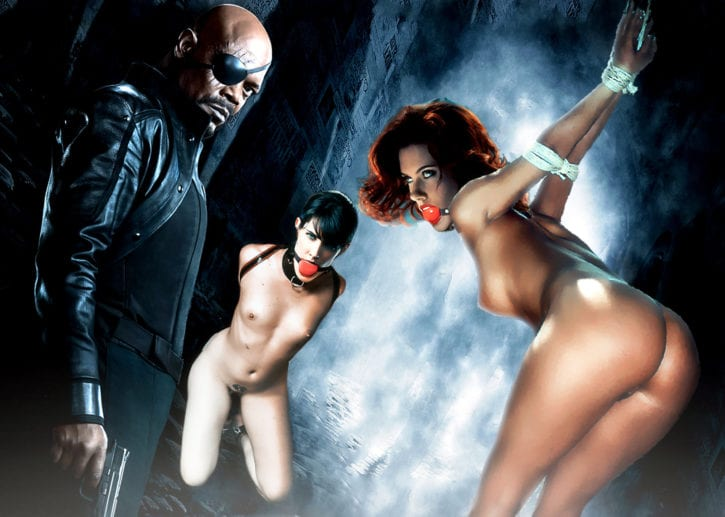 1133936 - Avengers Black_Widow Cobie_Smulders Maria_Hill Marvel Nick_Fury Samuel_L._Jackson Scarlett_Johansson fakes unduingtota