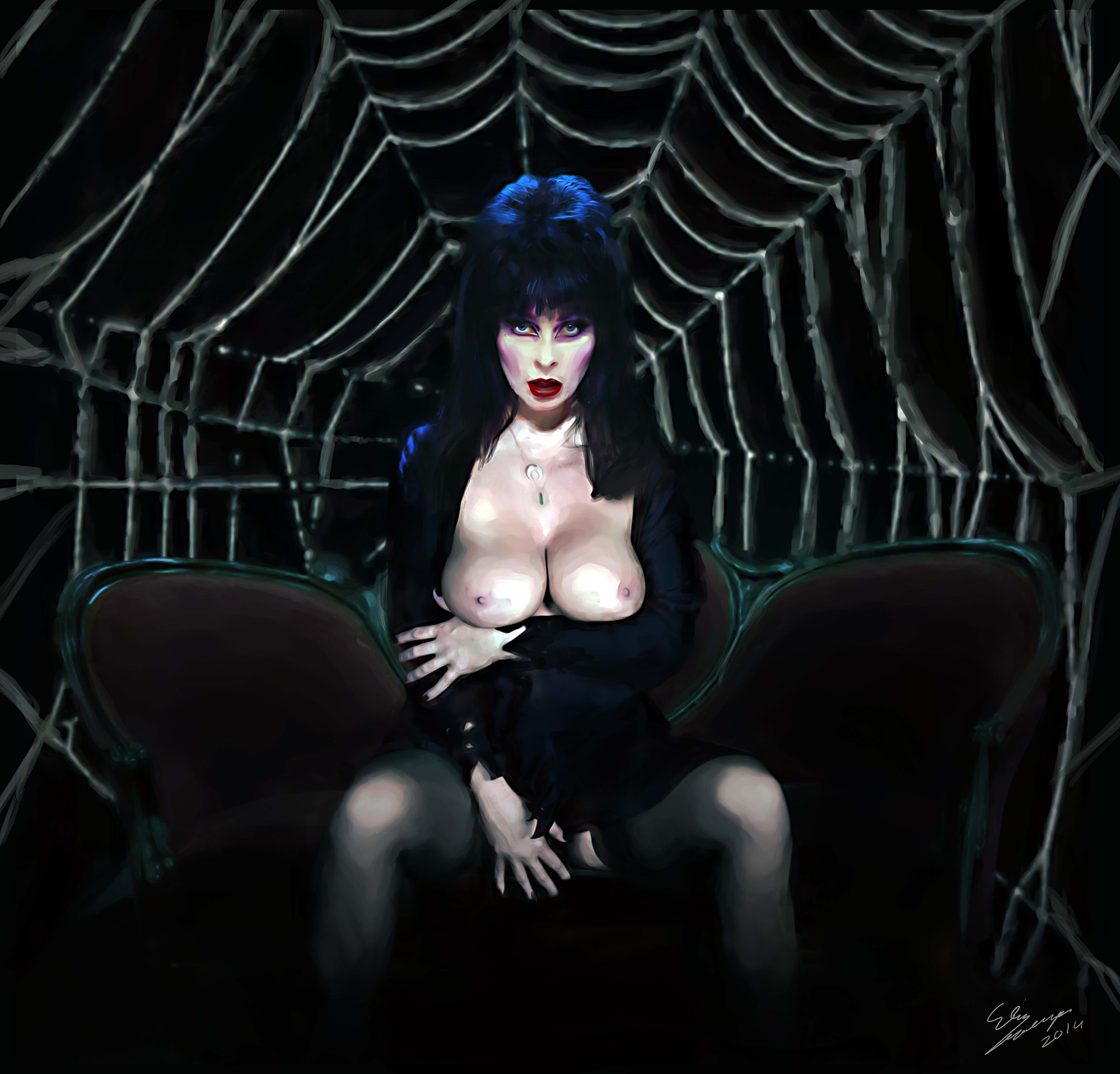 elvira dark mistress naked