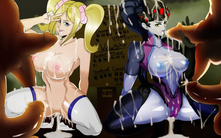 1663047 - 121gigawatts Juliet_Starling Lollipop_Chainsaw Overwatch Widowmaker crossover