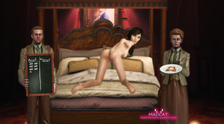 1668074 - Bioshock Bioshock_Infinite Elizabeth Madcat Robert_Lutece Rosalind_Lutece