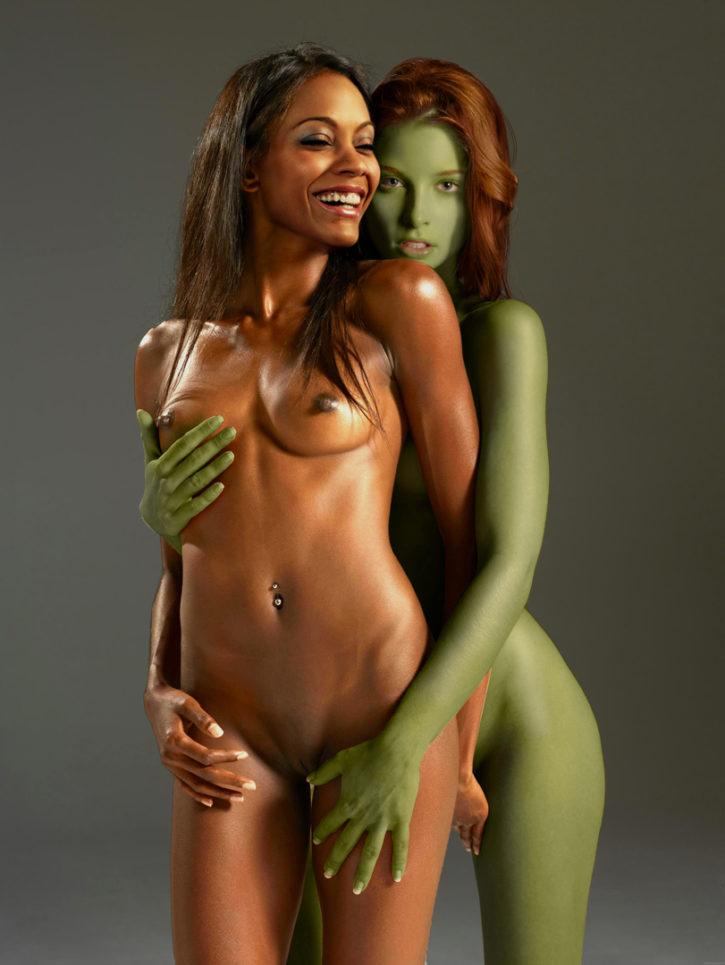 781538 - AdamantP Gaila Nyota_Uhura Rachel_Nichols Star_Trek Zoe_Saldana fakes orion_slave_girl