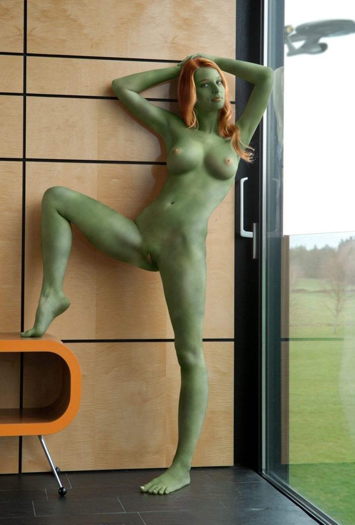 Green girl porn