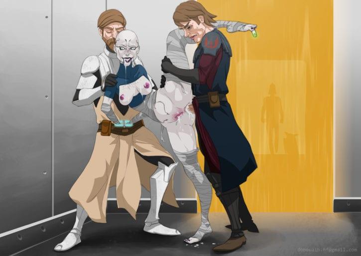 035_Anakin_Skywalker Asajj_Ventress Donouaih Obi-Wan_Kenobi Star_Wars
