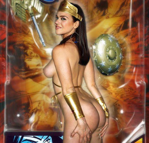 Adrianne Palicki as a Wonder Woman Action Figure