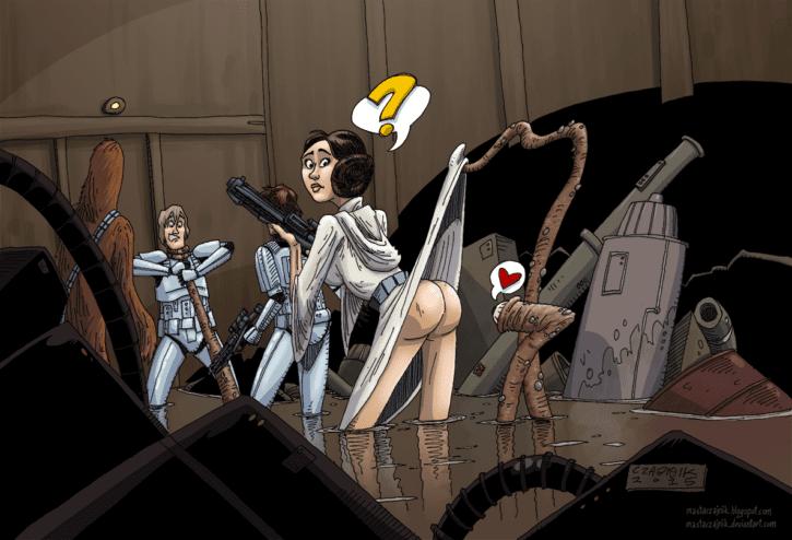 1522056 - Chewbacca Dianoga Han_Solo Luke_Skywalker Princess_Leia_Organa Star_Wars mastaczajnik
