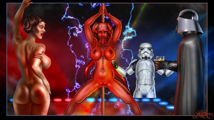 1047586 - Darth_Talon Darth_Vader Princess_Leia_Organa Star_Wars Sticky Stormtrooper Twi'lek