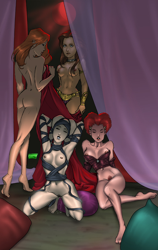147377 - Arica Lyn_Me Mara_Jade Miravi Princess_Leia_Organa Return_of_the_Jedi Rystall_Sant Star_Wars Twi'lek