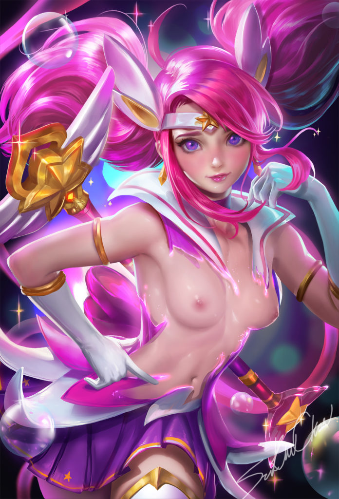 1702407 - League_of_Legends Luxanna_Crownguard sakimichan