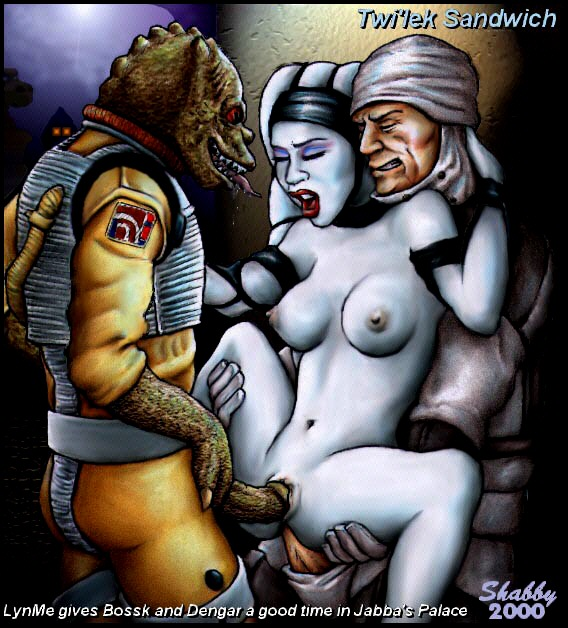 65606 - Bossk Dengar Lyn_Me Return_of_the_Jedi Shabby_Blue Star_Wars Trandoshan Twi'lek