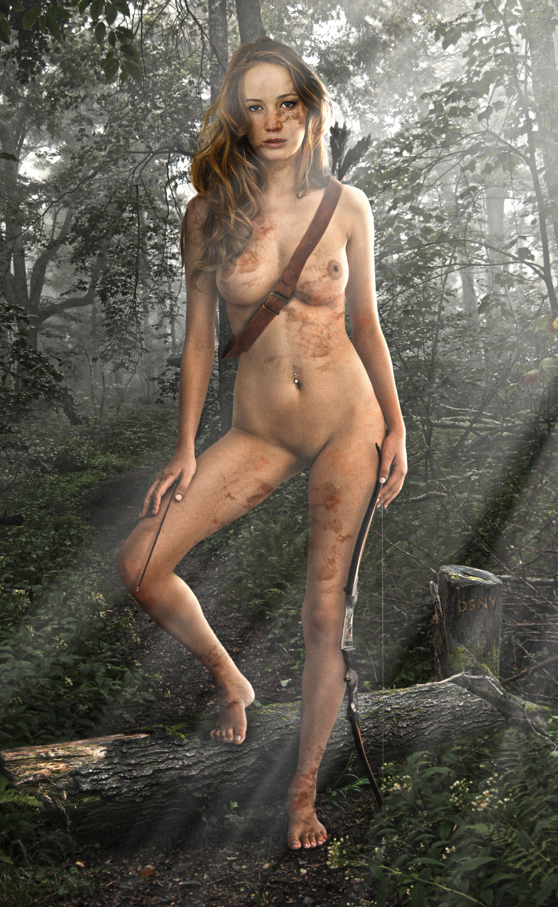 naked hunger Katniss from porn games