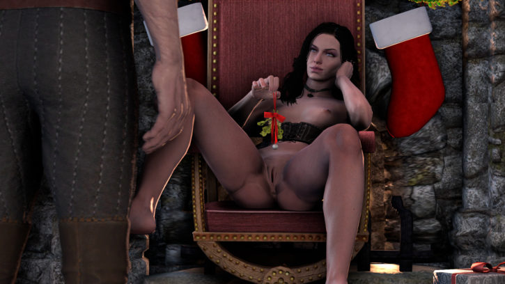 1759642 - Christmas Geralt_of_Rivia The_Witcher Yennefer