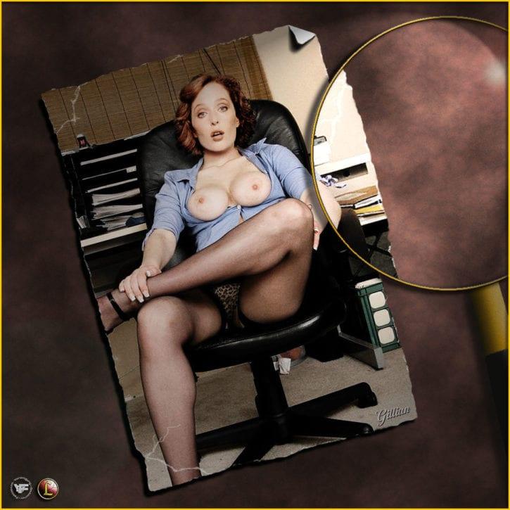 021_014_Dana_Scully Gillian_Anderson X-Files fakes