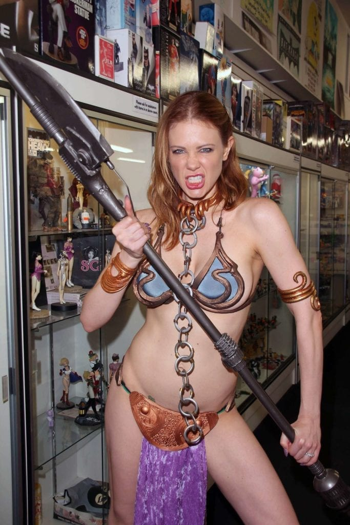 Maitland-Ward_-Princess-Leia-at-Meltdown-Comics-2014--11