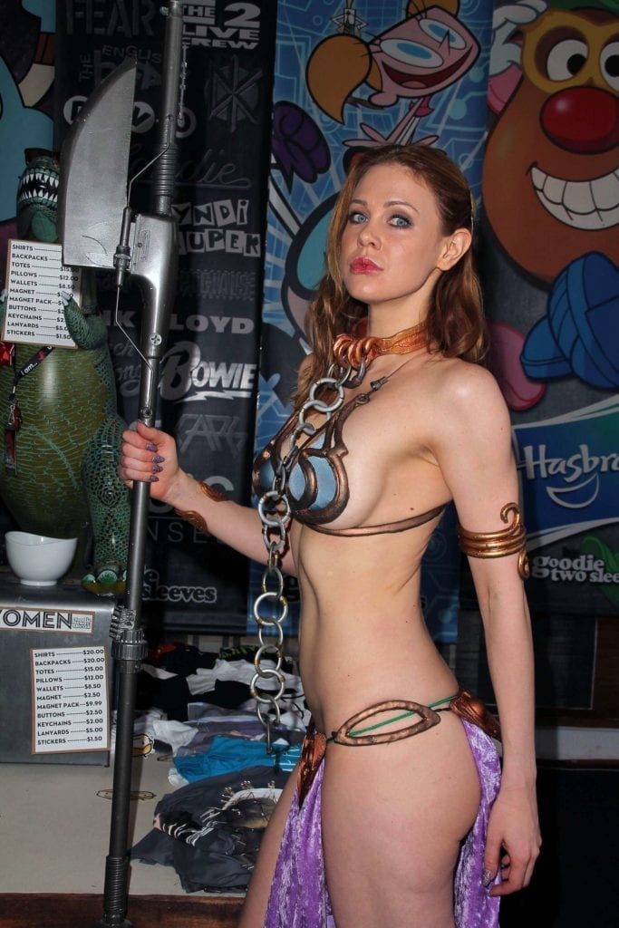 Maitland-Ward_-Princess-Leia-at-Meltdown-Comics-2014--34