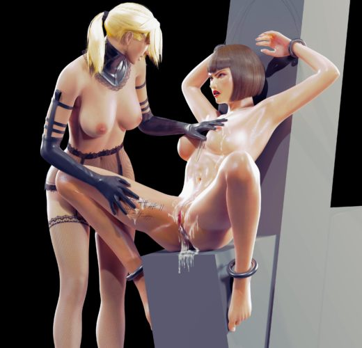 Nina and Anna Bondage ~ Tekken Rule 34