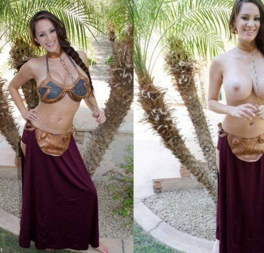 Slave Leia Undressing