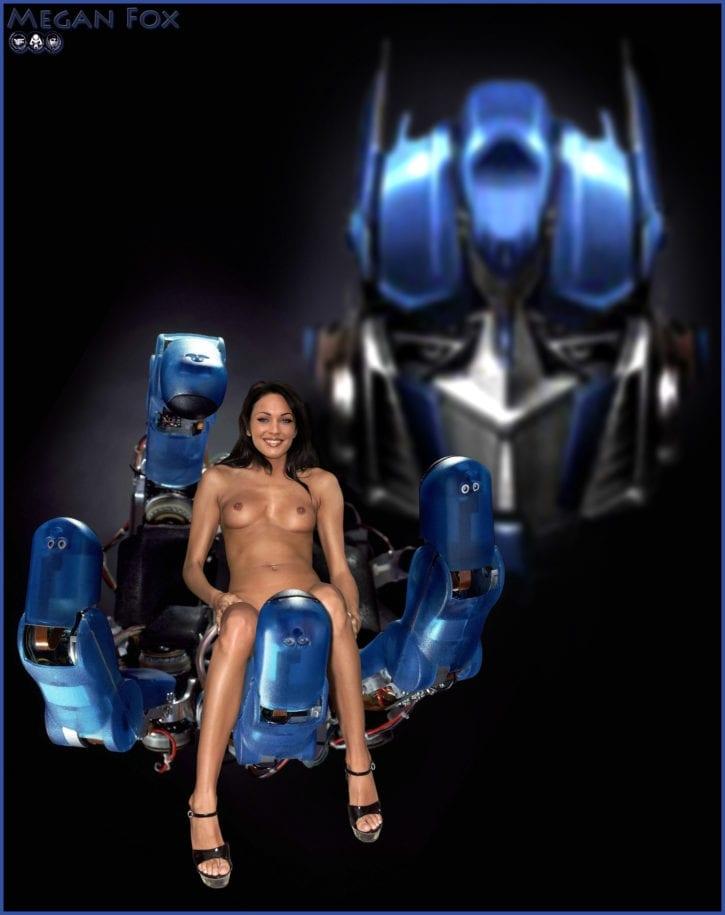 907341 - Megan_Fox Mikaela_Banes Optimus_Prime Transformers