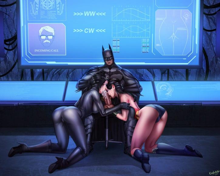 1686917 - Batman Catwoman DC Evulchibi Wonder_Woman