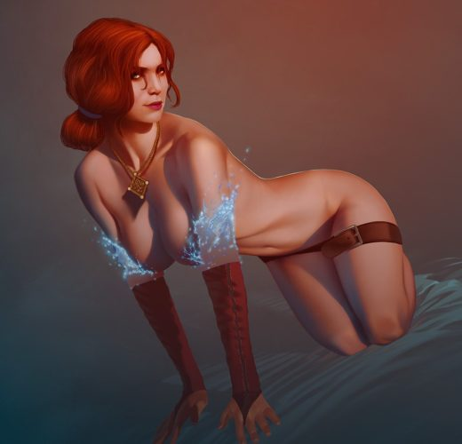 Triss Merigold by achibner ~ Witcher 3 Rule 34