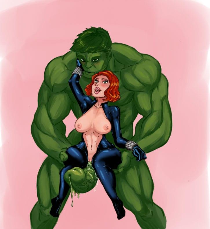 1725672 - Avengers Black_Widow Hulk Marvel VallZed