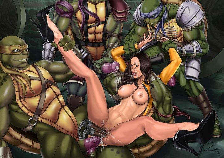 1355298 - April_O'Neil Donatello Leonardo Megan_Fox Michelangelo Raphael ShooterM Teenage_Mutant_Ninja_Turtles