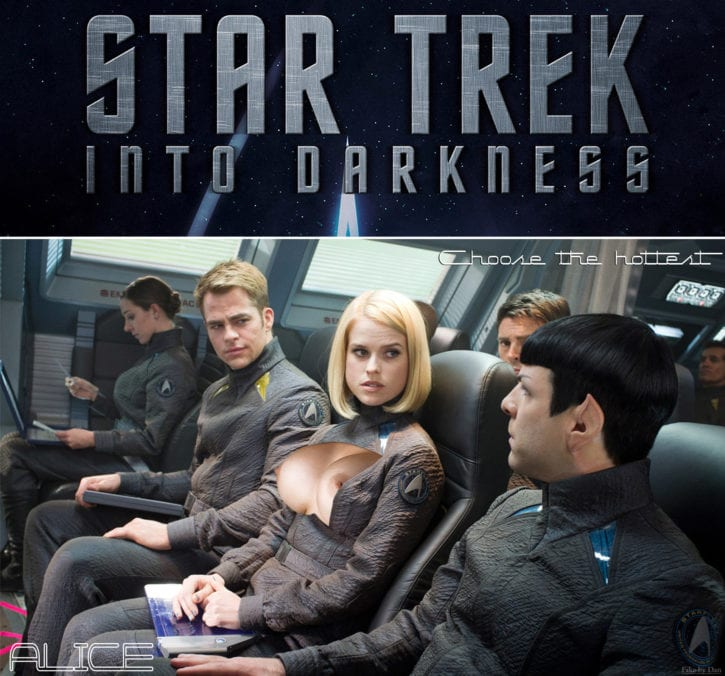 star Alice fakes eve trek
