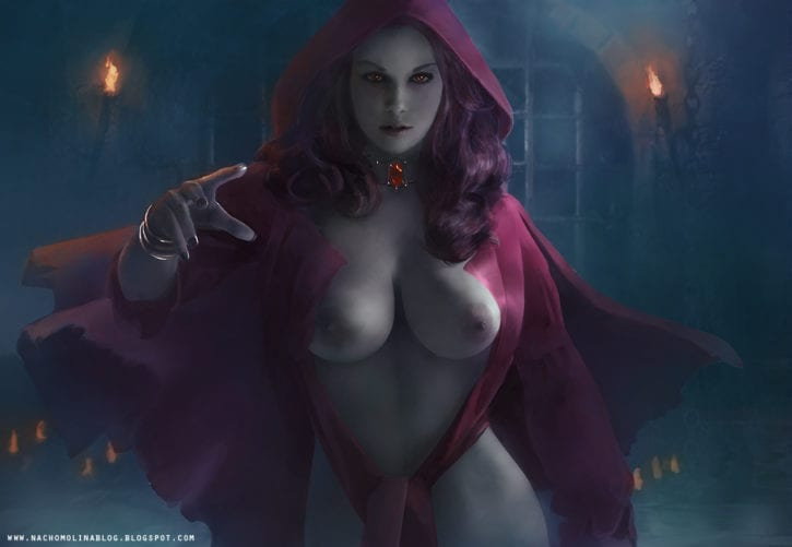 1754488 - A_Song_of_Ice_and_Fire Game_of_Thrones Melisandre nachomolina